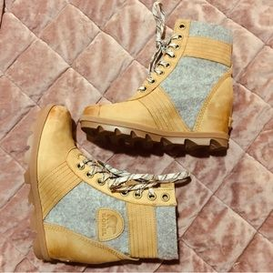 Sorel Lexie Wedge Ankle Boots